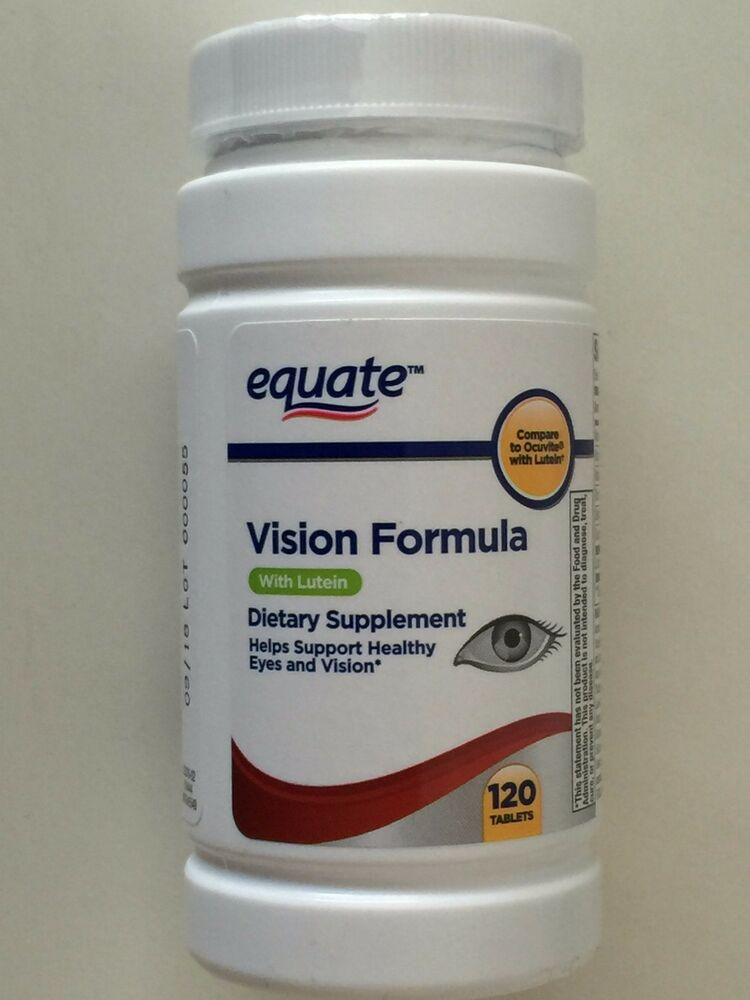Lutein With Optilut 10 Mg: Equate Vision Formula & Lutein Eye Health Vitamin And
