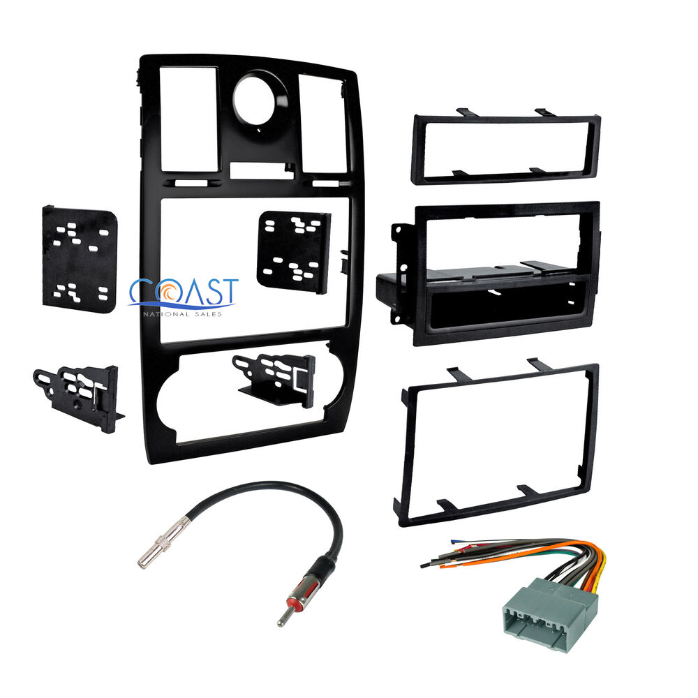 car stereo double din dash kit harness antenna combo for ... wiring harness es300 double din #14