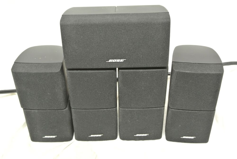 5 bose lifestyle speakers black from acoustimass 10 series. Black Bedroom Furniture Sets. Home Design Ideas