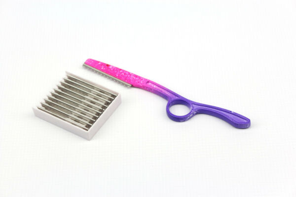 Tie Dye Hairdressing Thinning Styling Razor Feather Blades Stainless Steel