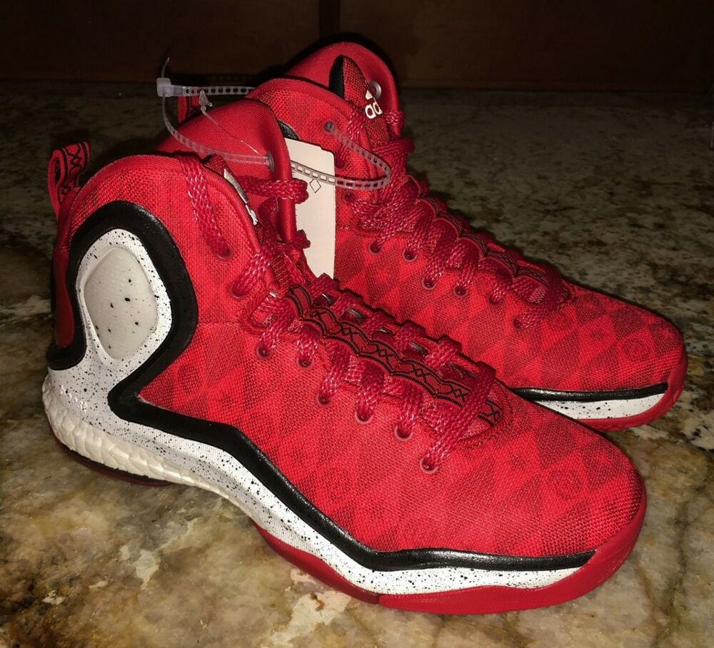 NEW Youth 4 4.5 5 ADIDAS D Rose 5 Boost Red Basketball ...