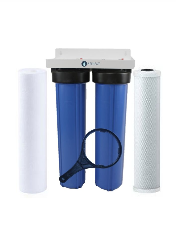 Twin 20 Quot X 4 5 Quot Big Blue Whole House Water Filter System