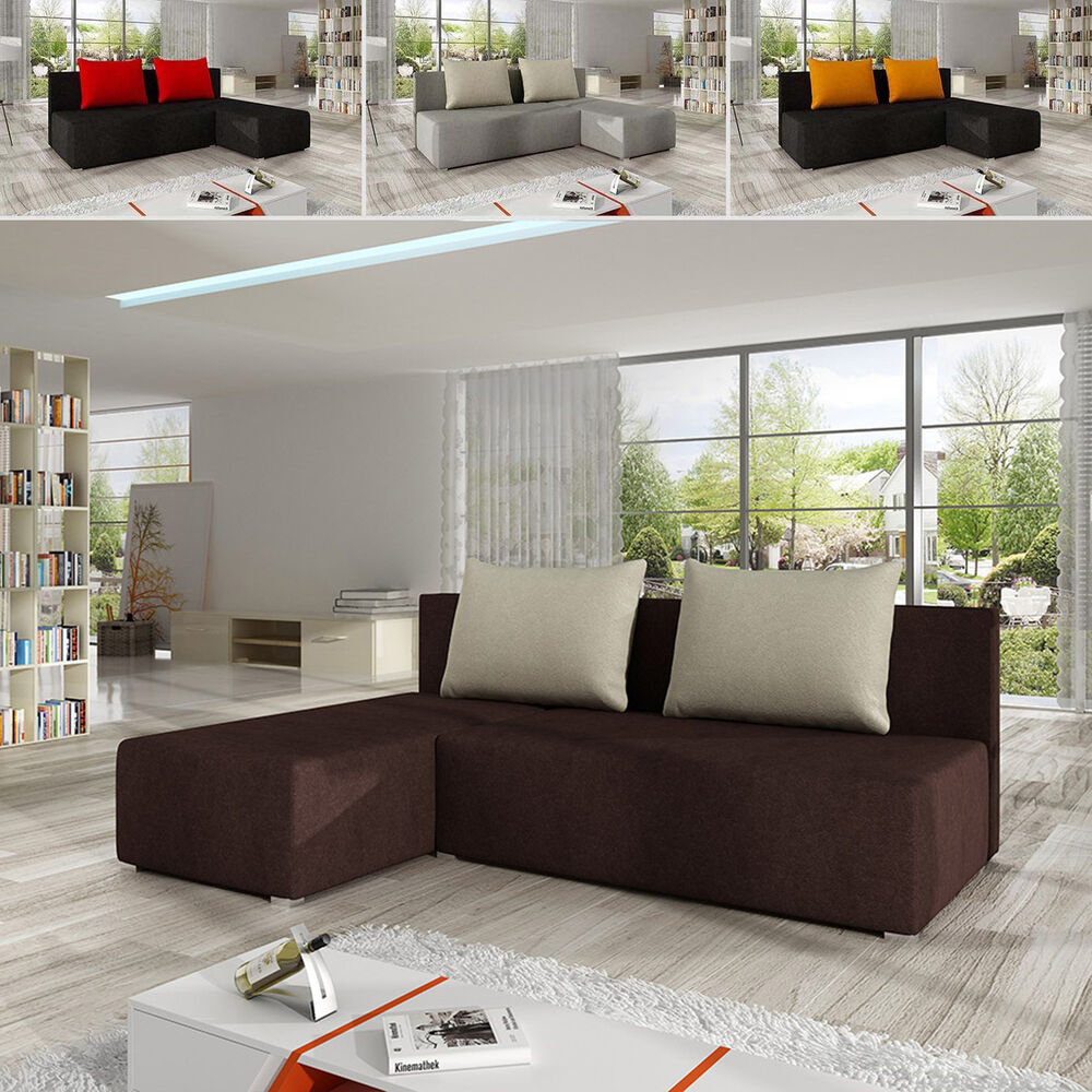 ecksofa heros mit schlaffunktion eckcouch sofagarnitur sofa couchgarnitur ebay. Black Bedroom Furniture Sets. Home Design Ideas