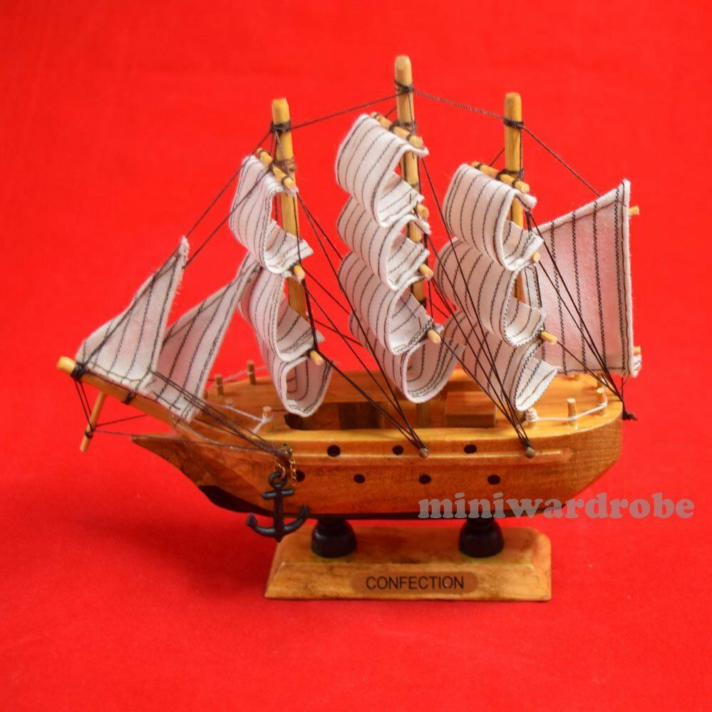 6 Inch Handcrafted Collectable Miniature Sailboat Ship