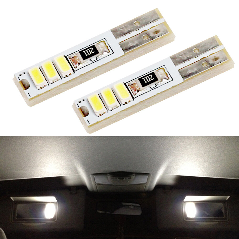 Vanity Lamp In Car : 2xXenon White Visor Vanity Mirror Lights LED Bulbs For 2009-2014 Ford F150 eBay