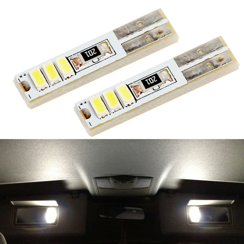 2xXenon White Visor Vanity Mirror Lights LED Bulbs For 2009-2014 Ford F150 eBay