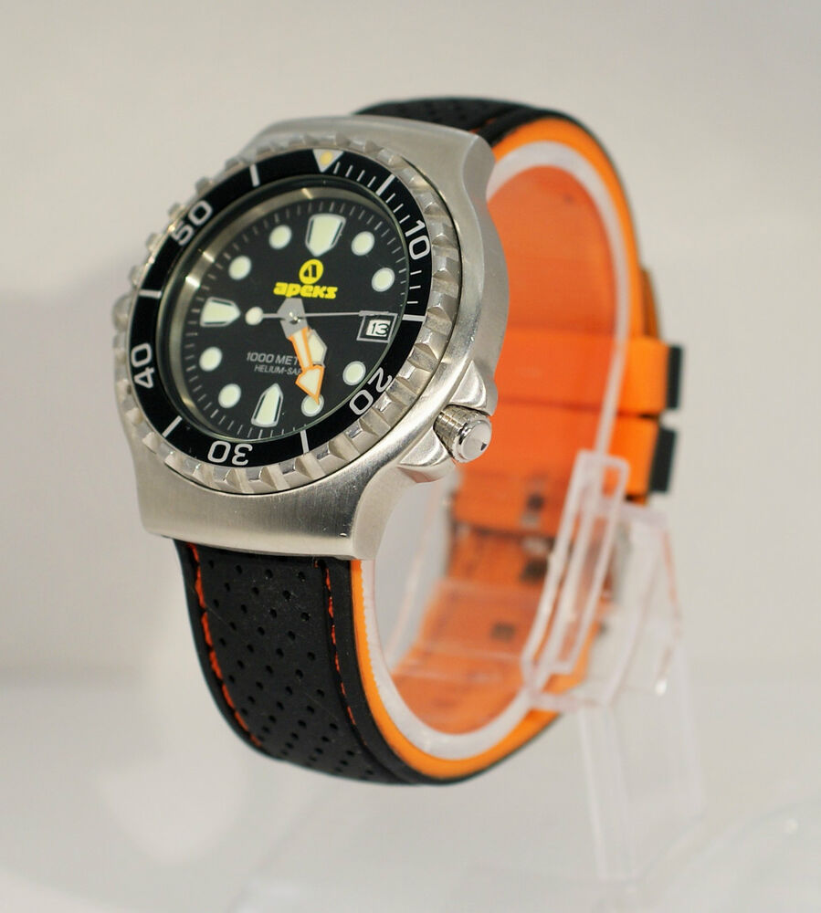 Silicone rubber watch strap perforated contrast stitched various colours 22mm ebay for Rubber watches