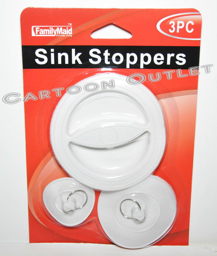 How To Remove Drain Stopper From Bathroom Sink: 3 PC SINK STOPPER SINK STOPPERS FOR SINKS TUBS SHOWERS AND