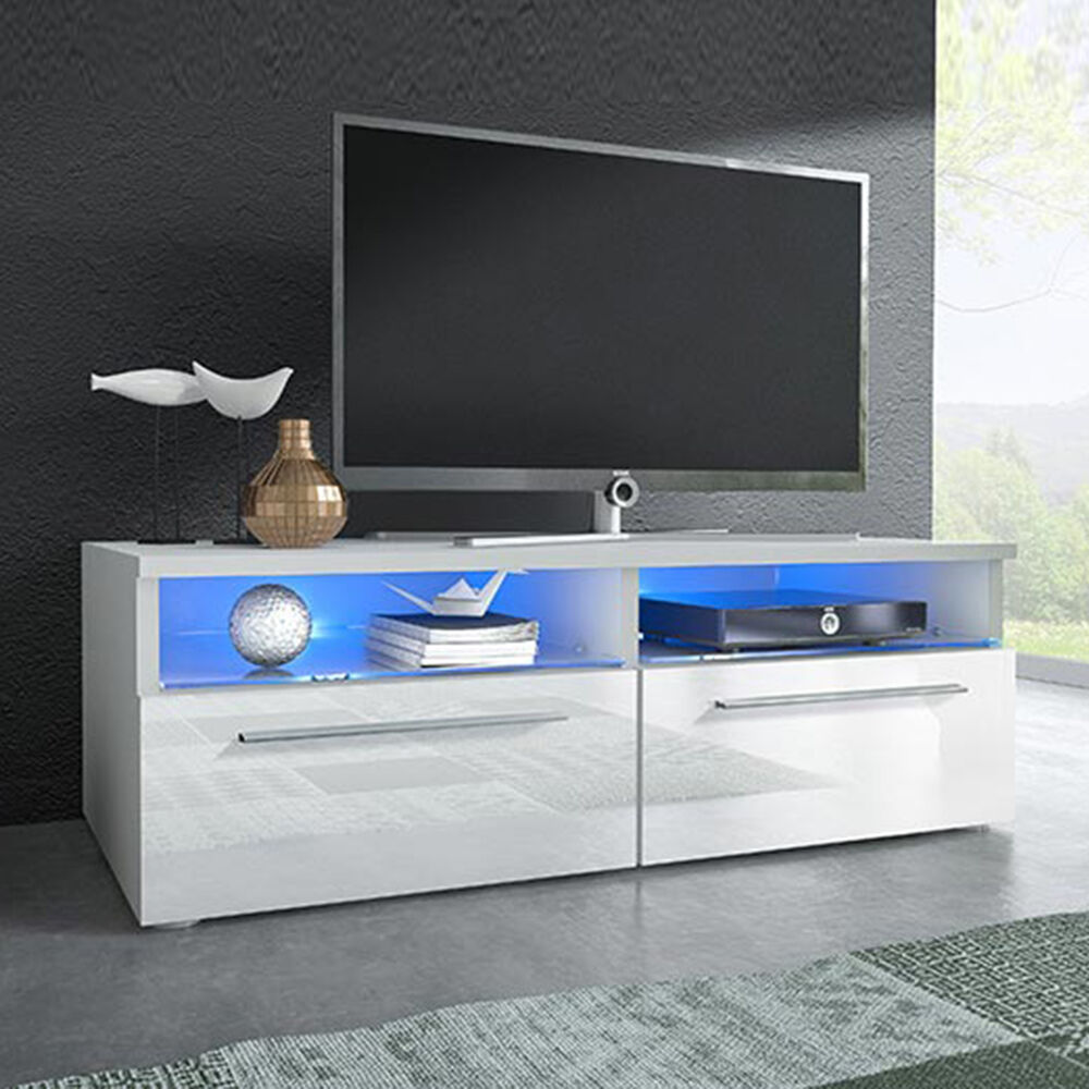 lowboard vi mit beleuchtung led tv tisch sideboard tv schrank hochglanz ebay. Black Bedroom Furniture Sets. Home Design Ideas
