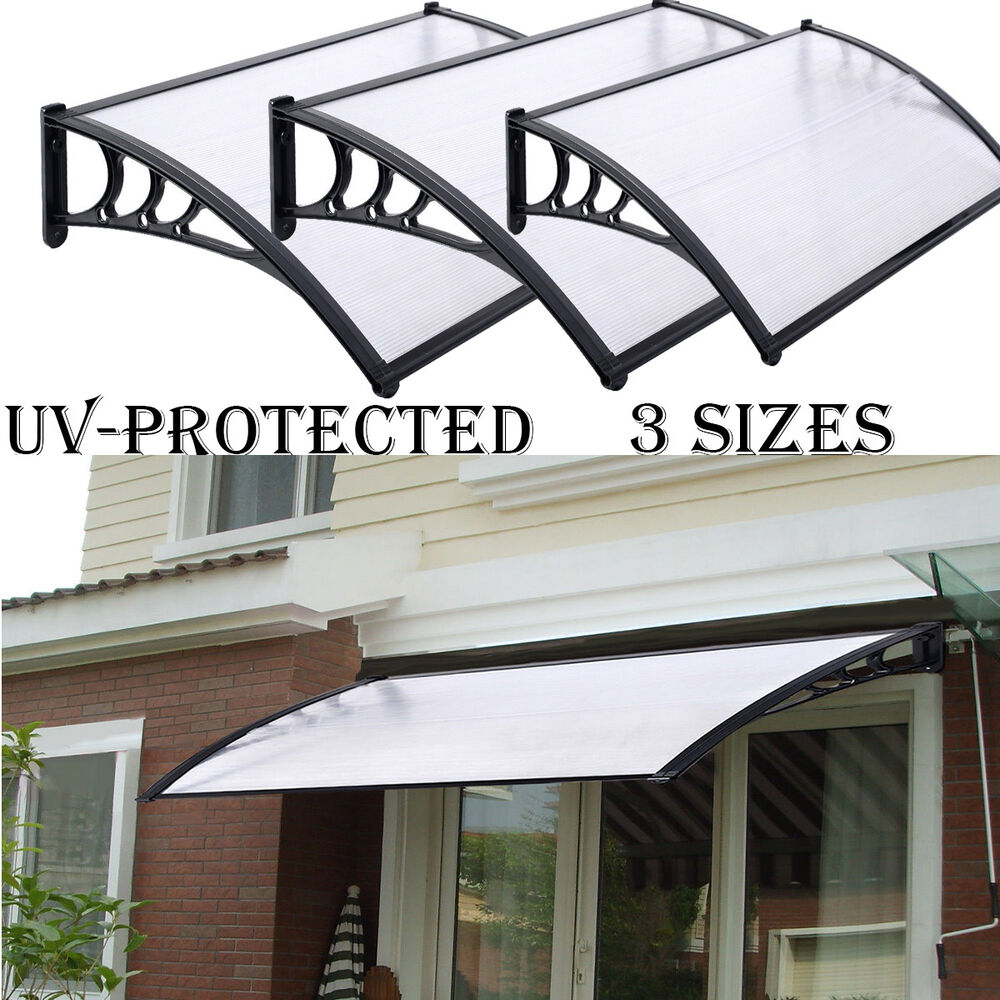 NEW DOOR CANOPY AWNING SHELTER FRONT AND BACK DOOR AWNING POLYCARBONATE 3 SIZES & Polycarbonate Canopy | eBay