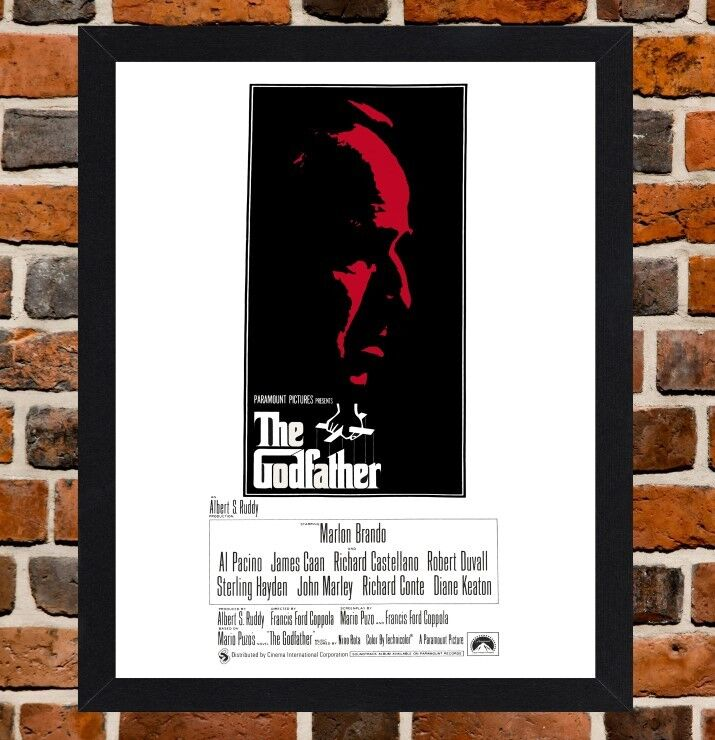Framed The Godfather Vito Corleone Movie Film Poster A4 / A3 Size In ...