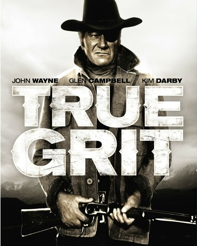 true grit movie poster rare western ebay. Black Bedroom Furniture Sets. Home Design Ideas