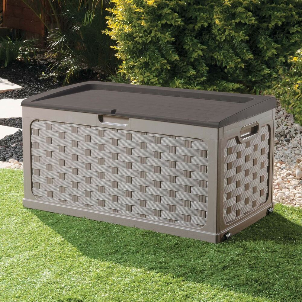xl large garden storage cushion box utility shed sit on. Black Bedroom Furniture Sets. Home Design Ideas