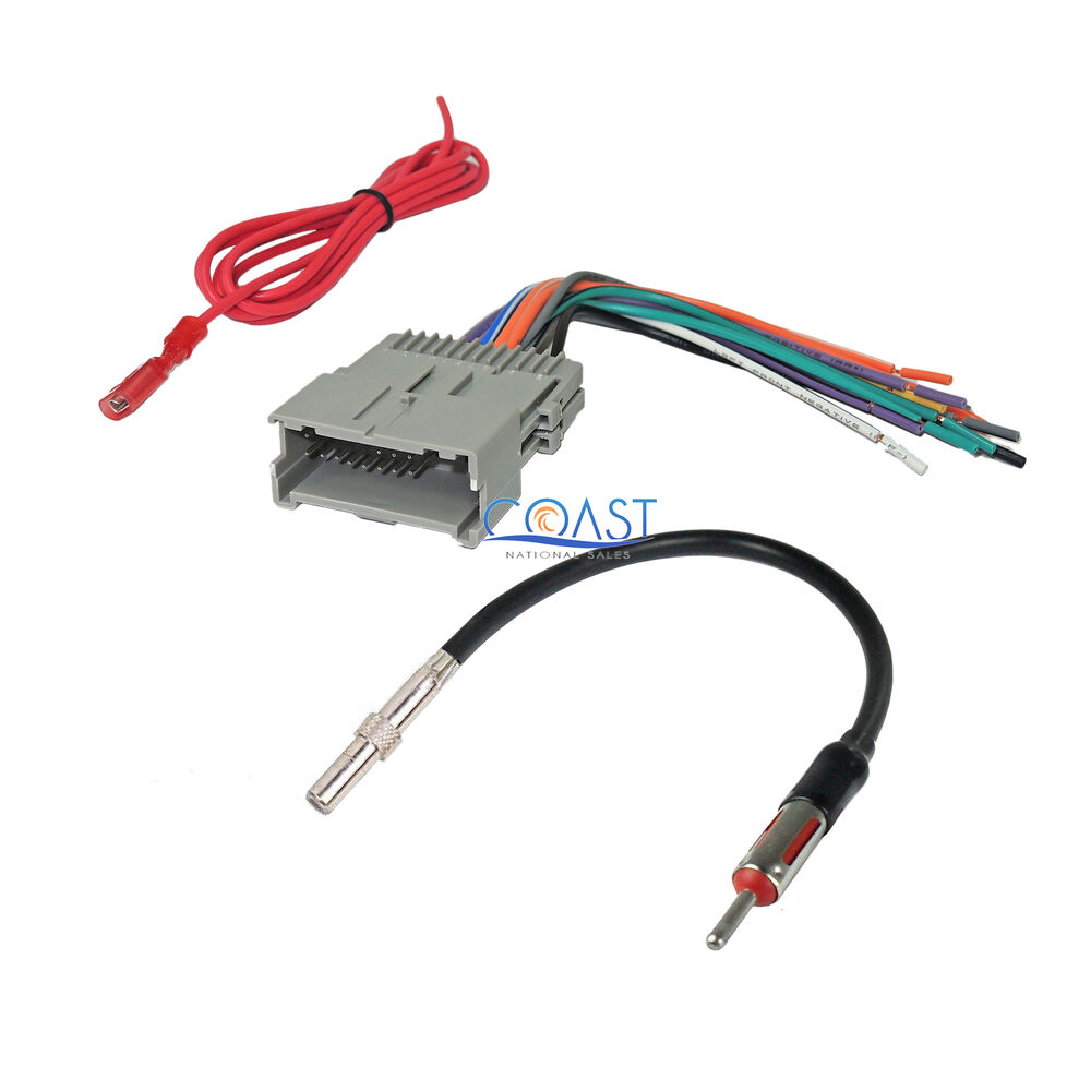 Wiring Harness Radio : Car stereo radio wire harness antenna combo for
