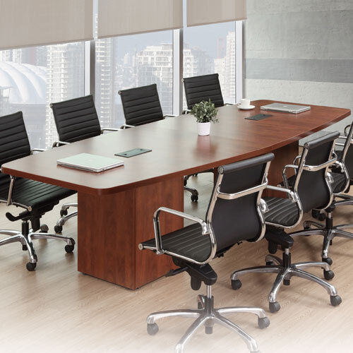 Modern Conference Room Table Boatshape W Cube Base Power