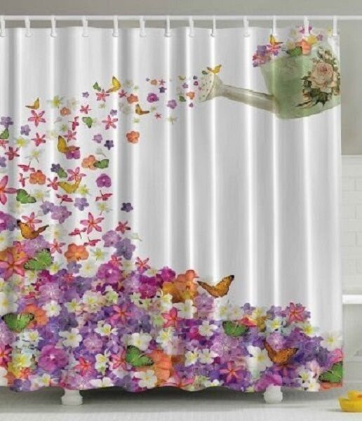 Fabric butterfly shower curtain - Shower Curtain Bathroom Waterproof Polyester Fabric Butterflies