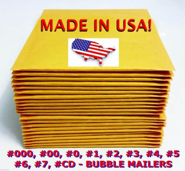 Wholesale Bubble Mailers Padded Envelopes #0 #1 #2 #3 #4 #5 #6 #7 #00 #000 CD