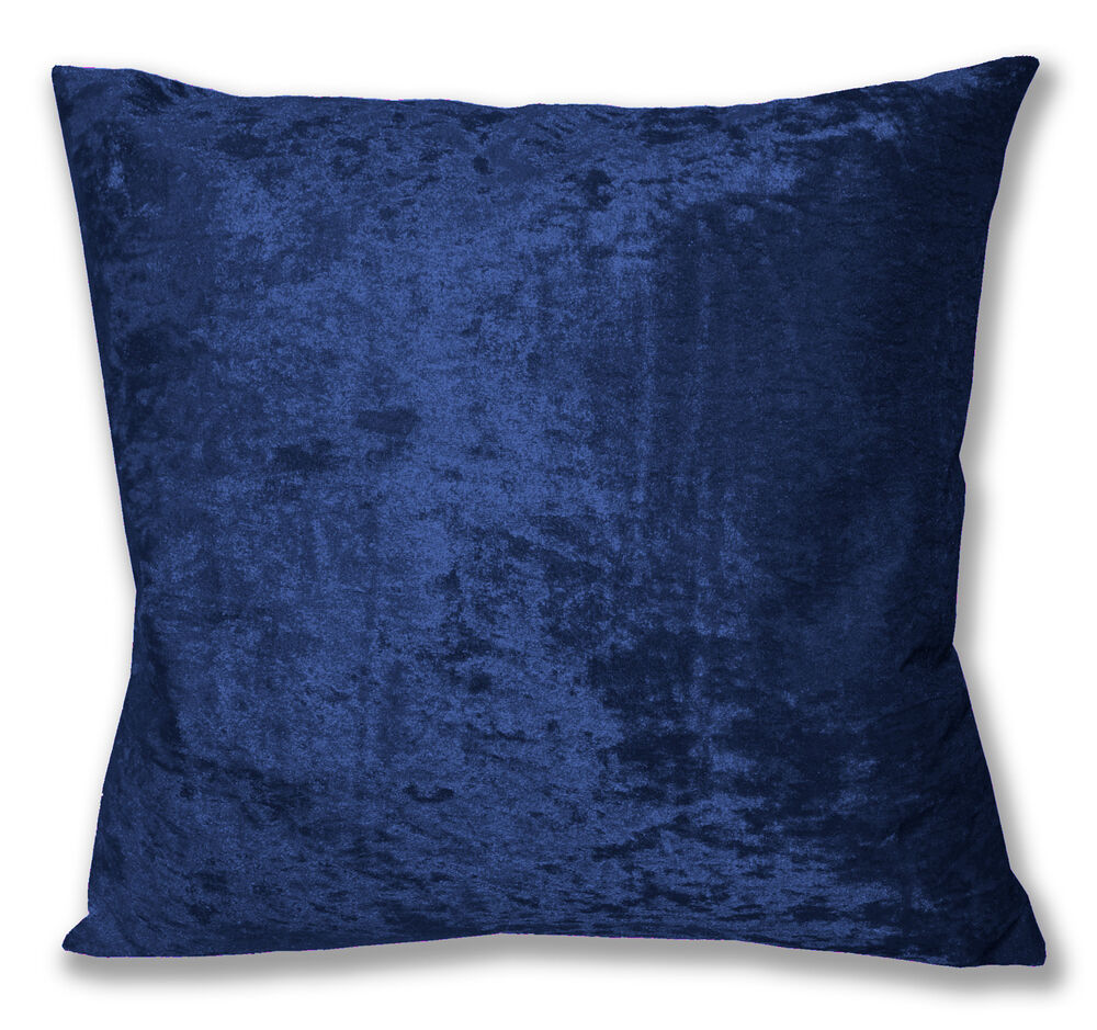 Mv19a Blue Shiny Diamond Crushed Velvet Cushion Cover
