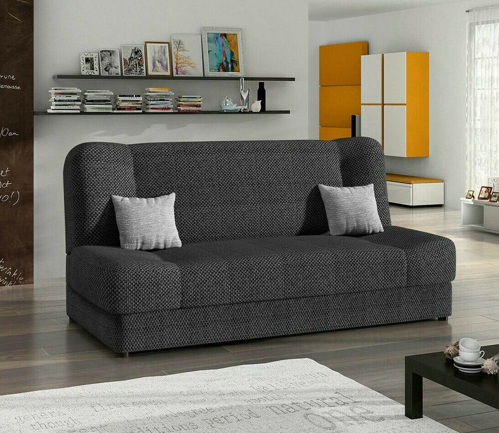 schlafsofa jonas sofagarnitur sofa couch mit schlaffunktion und bettkasten ebay. Black Bedroom Furniture Sets. Home Design Ideas