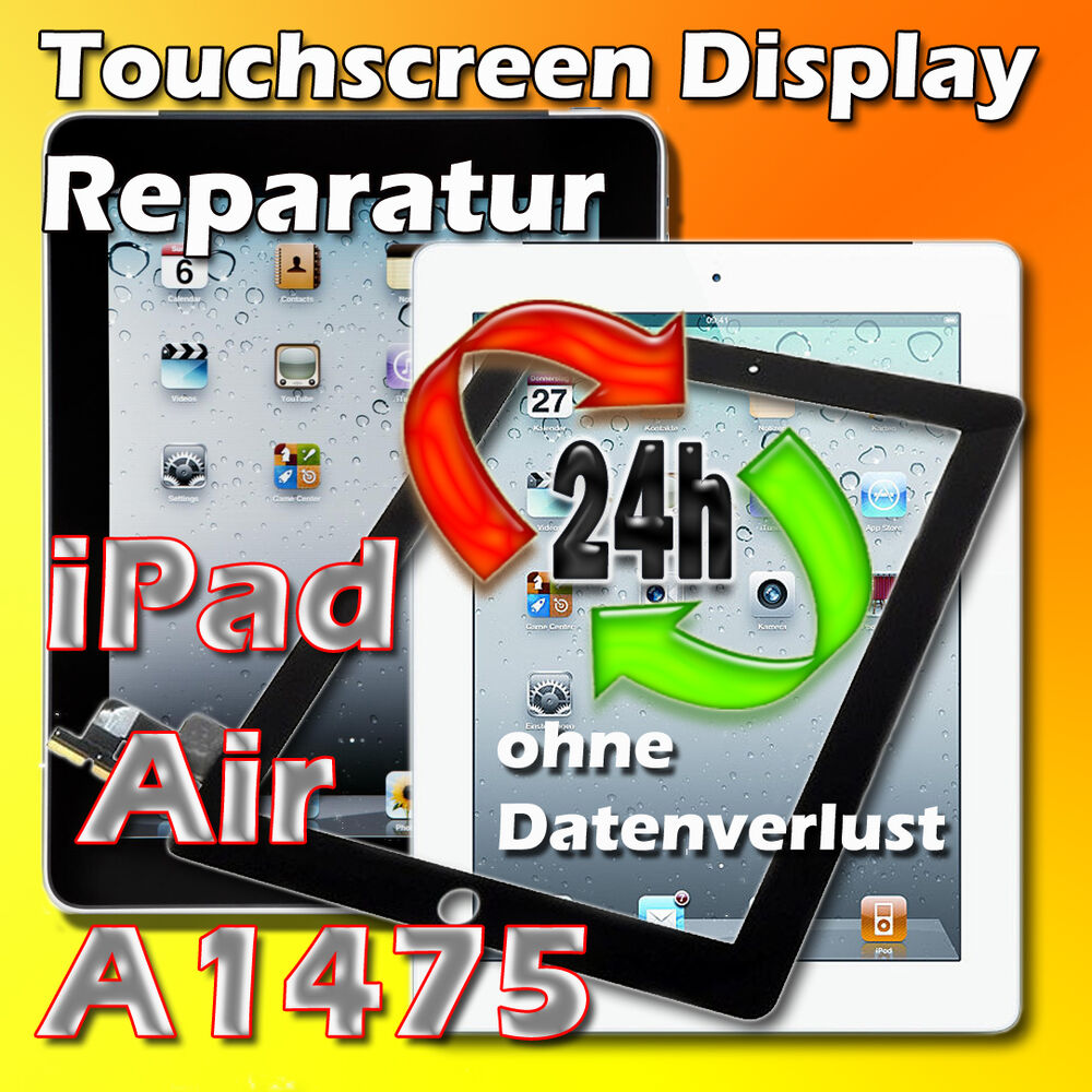 ipad air modell a1474 a1475 a1476 display glas scheibe reparatur in 24 st ebay. Black Bedroom Furniture Sets. Home Design Ideas
