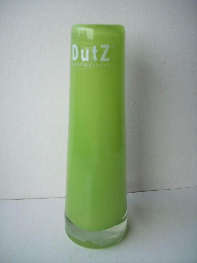 dutz collection vase gr n lime 15 cm glas mundgeblasen rund glasvase solifleur ebay. Black Bedroom Furniture Sets. Home Design Ideas