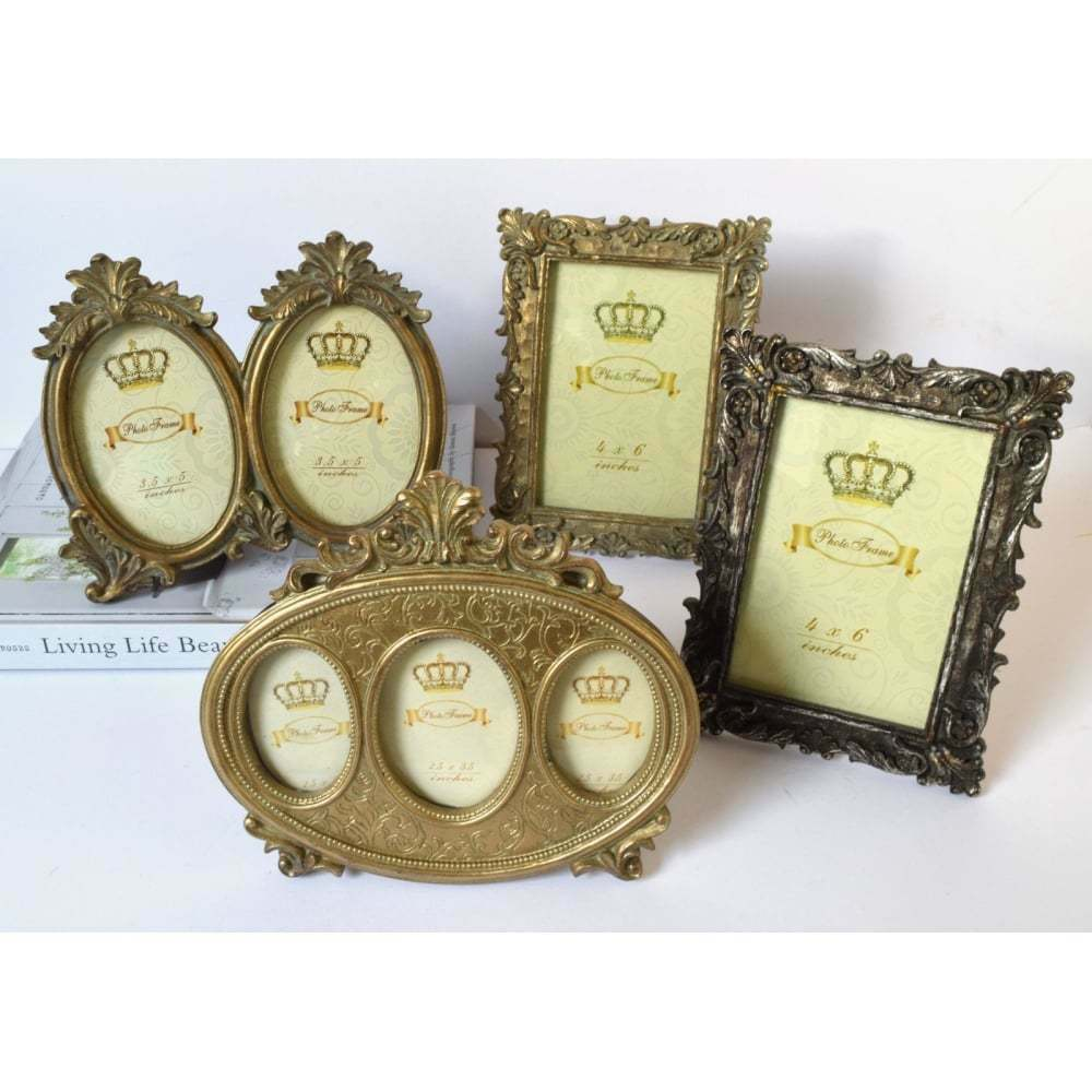 vintage style photo frame silver gold victorian shabby chic picture frames multi ebay. Black Bedroom Furniture Sets. Home Design Ideas