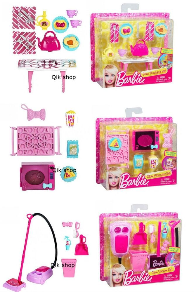 Barbie accessori per la casa set forno a microonde for Accessori per la casa di barbie
