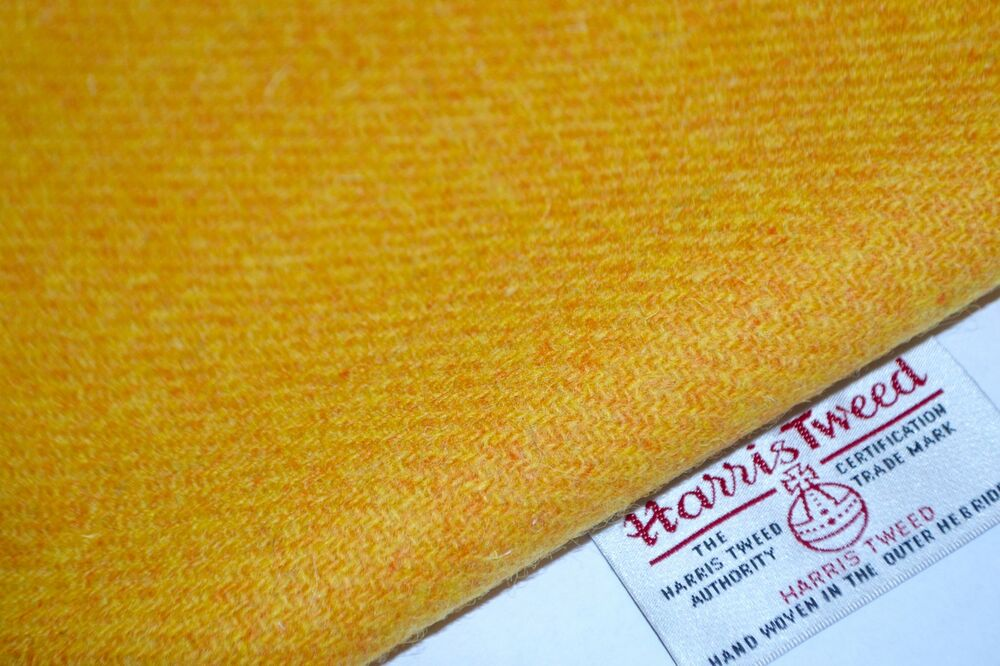 Harris Tweed Fabric Amp Labels Yellow Mustard Craft