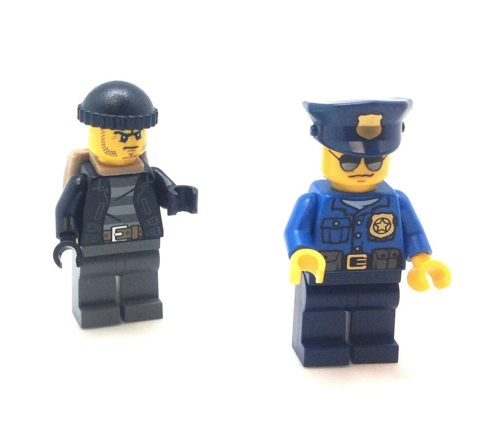Lego City Minifig High Speed Police Chase Officer Crook ...