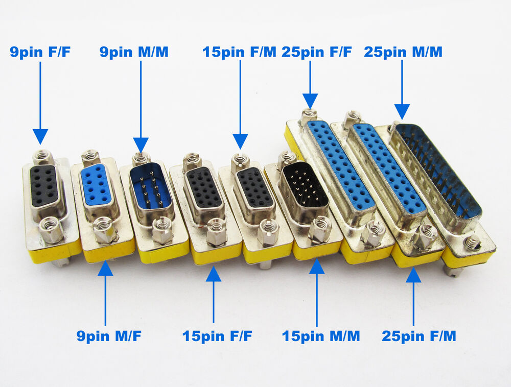 25 Pin Coupler : Pc db pin serial cable gender