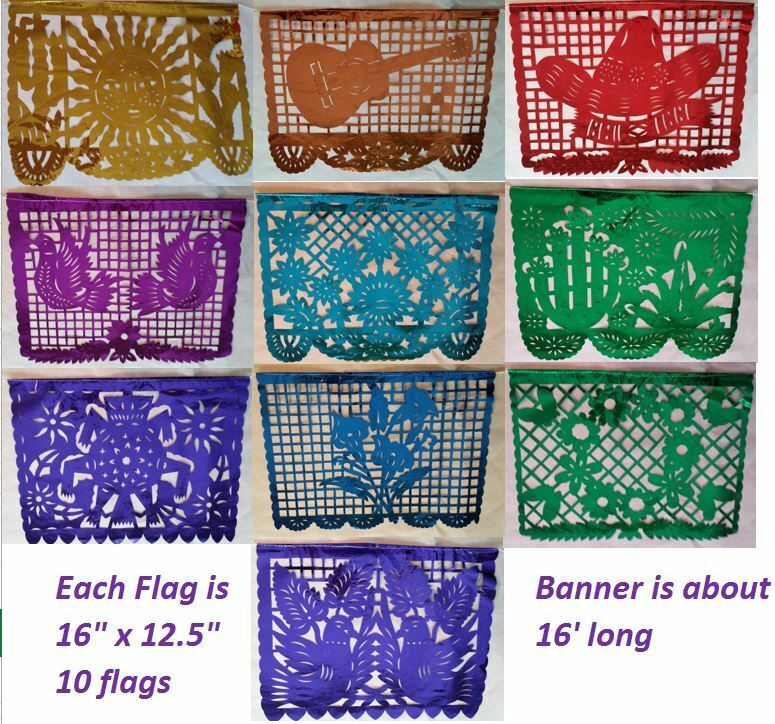 Papel picado banners history book