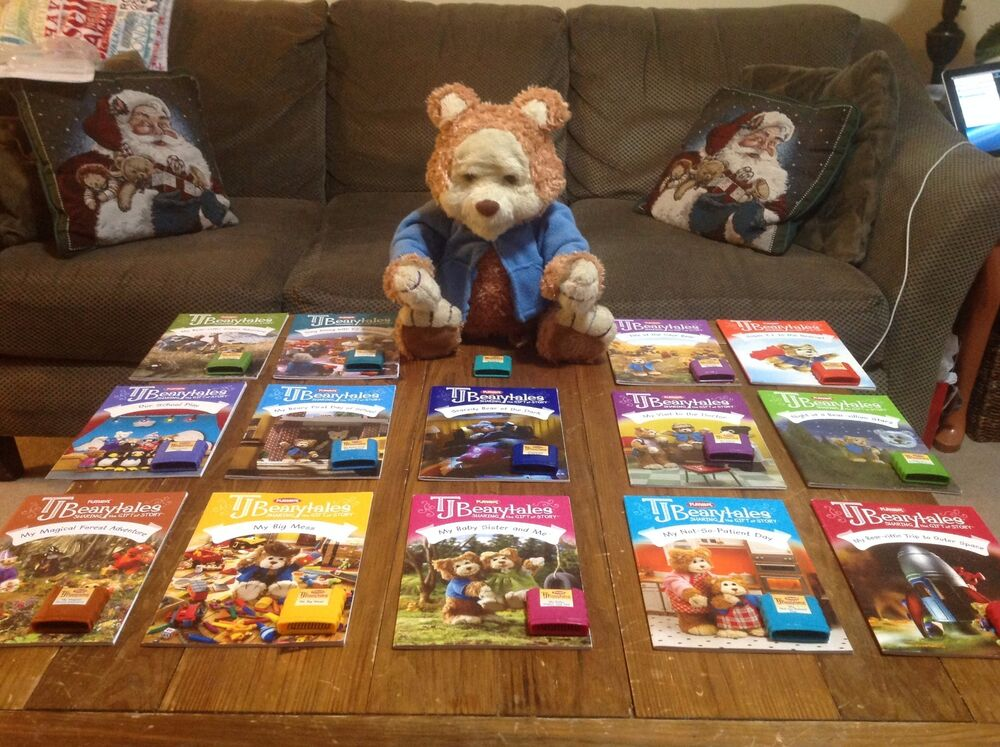 Playskool TJ Bearytales BOOKS ONLY T.J. BIG LOT of 17