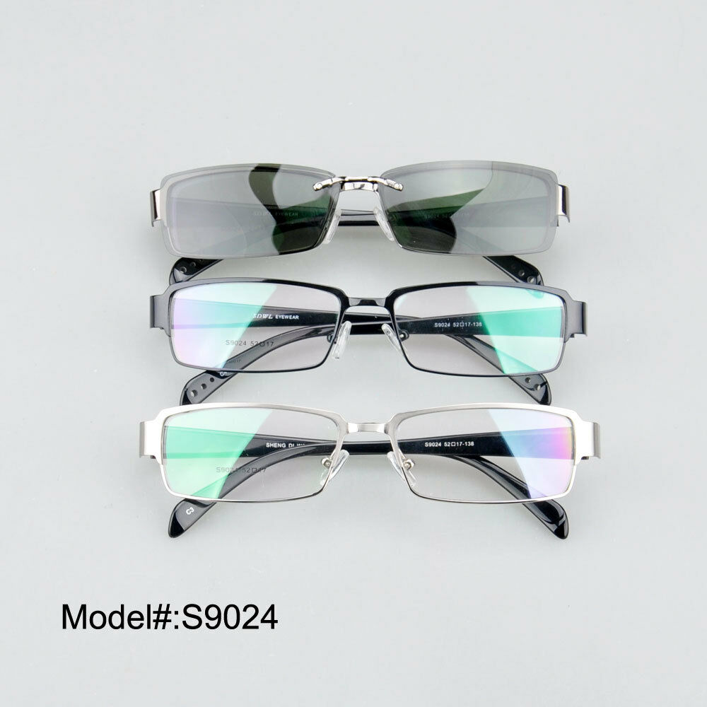 Eyeglass Frame With Magnetic Clip On Sunglasses : S9024 full rim quality clip on magnetic polarized ...