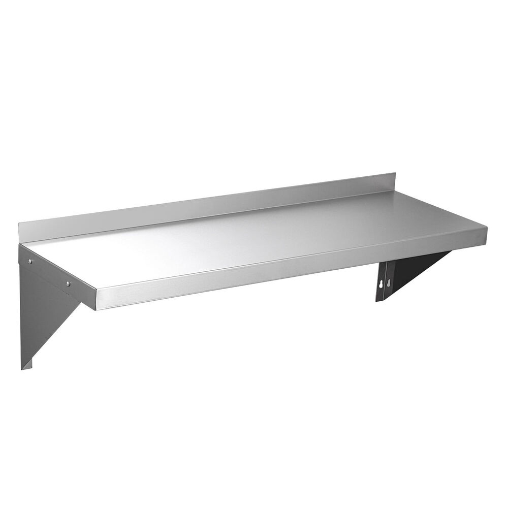 """12""""x36"""" Commercial Stainless Steel Kitchen Wall Shelf"""