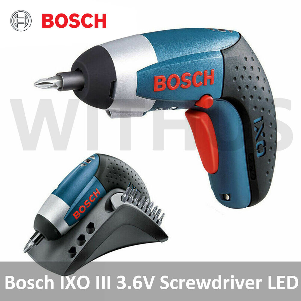 bosch ixo iii 3 6v professional cordless screwdriver lithium ion led bosch ixo 3 ebay. Black Bedroom Furniture Sets. Home Design Ideas