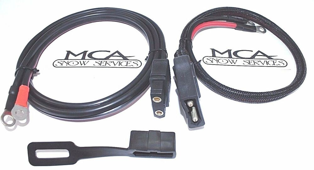 western fisher snow plow plow  u0026 truck side battery cable