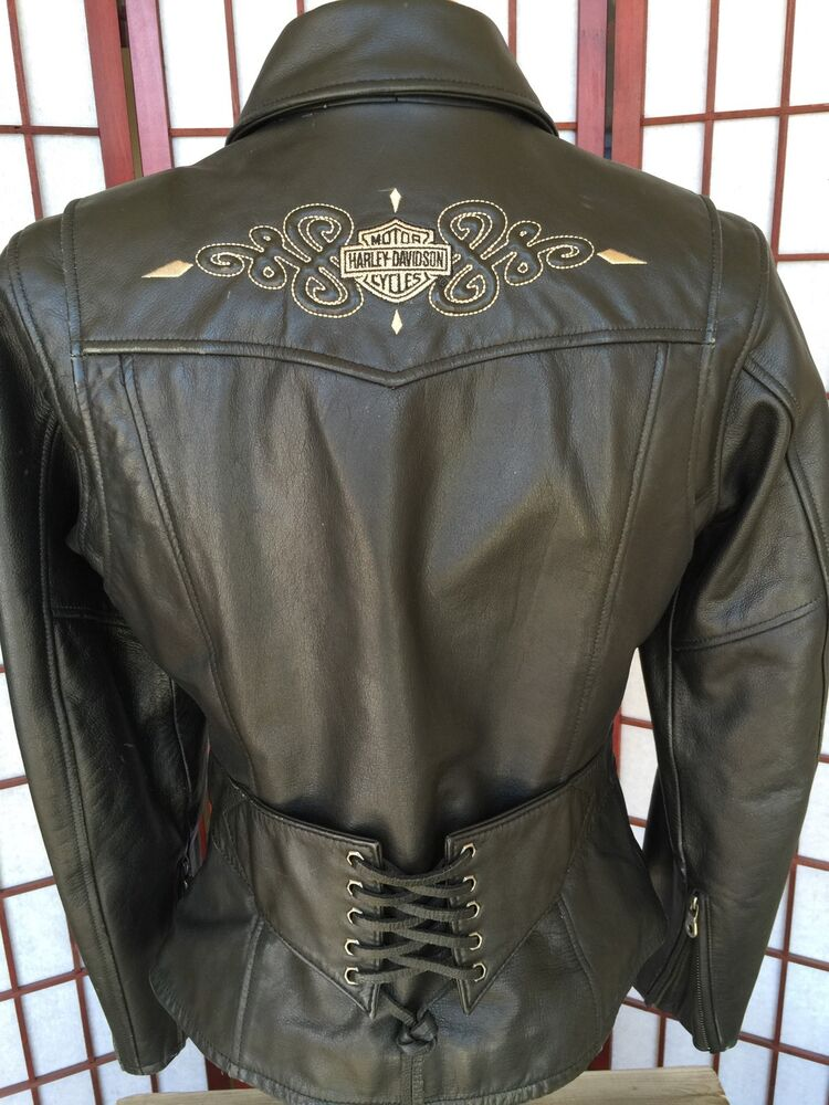 Harley Davidson Womens Leather Jacket Ebay Division Of