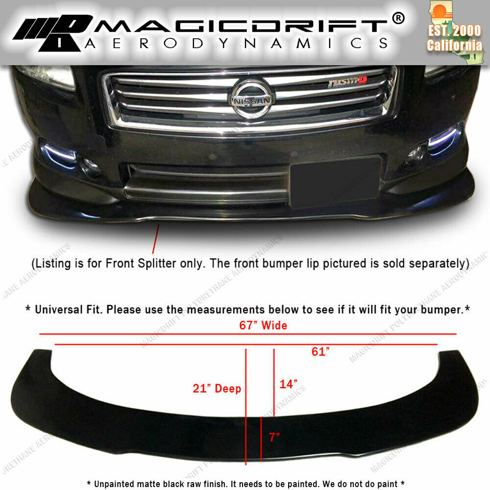 Universal front bumper lip flat splitter plate under panel for How much does it cost to list on ebay motors