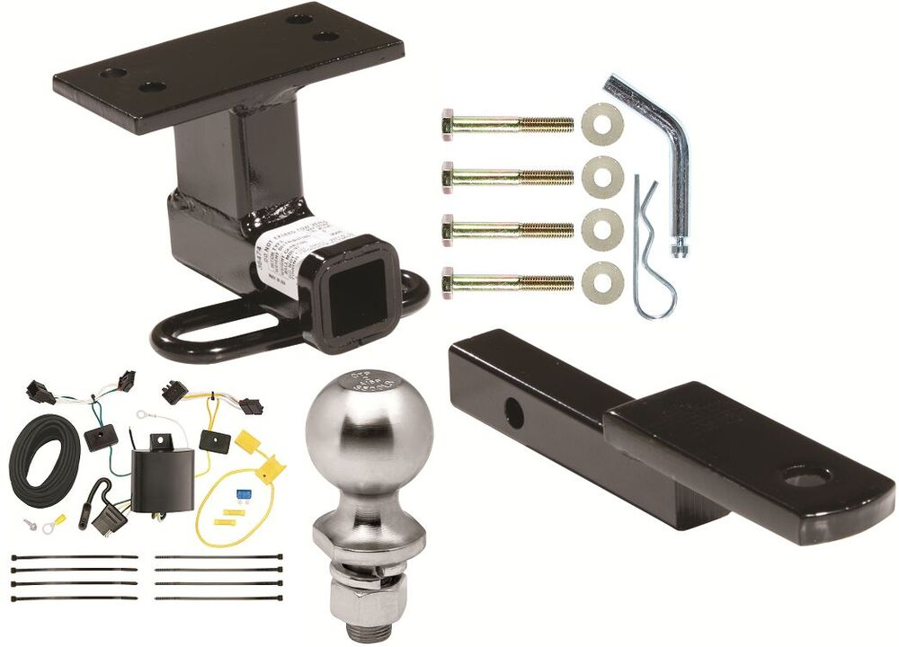 Complete Trailer Hitch Package W   Wiring Kit Fits 2012