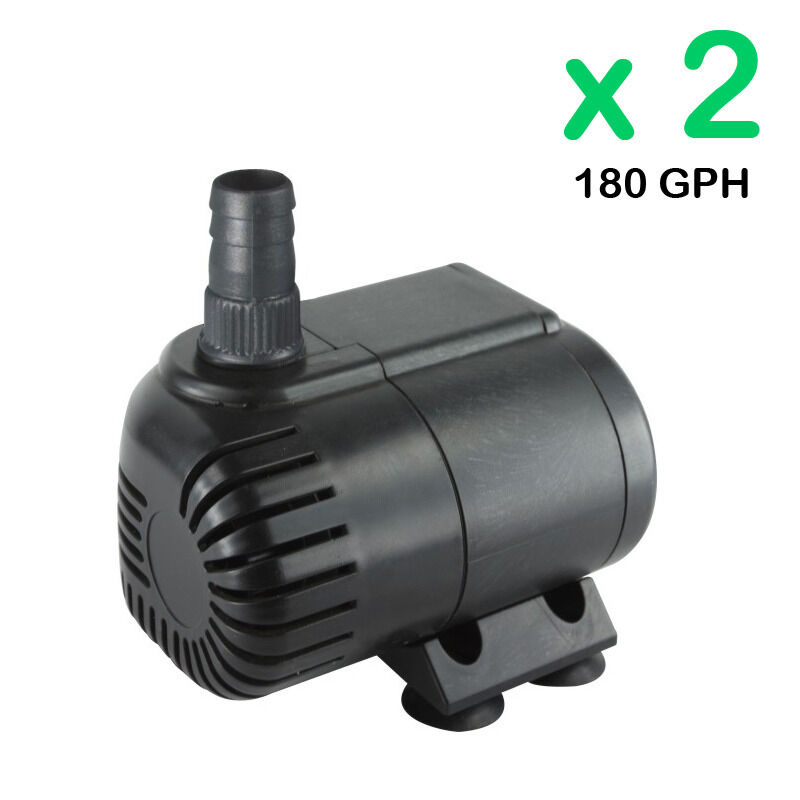 2x180gph submersible pump aquarium fish tank powerhead for Fish water pump