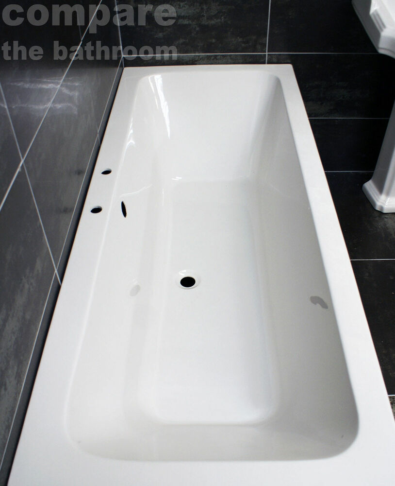 1800 bath ebay 1800 x 800mm double ended bath square acrylic centre tap hole