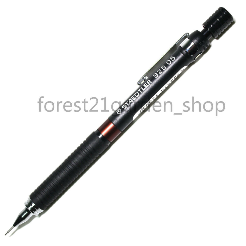 staedtler 925 05 graphite drafting mechanical pencil black barrel 0 5 mm ebay. Black Bedroom Furniture Sets. Home Design Ideas