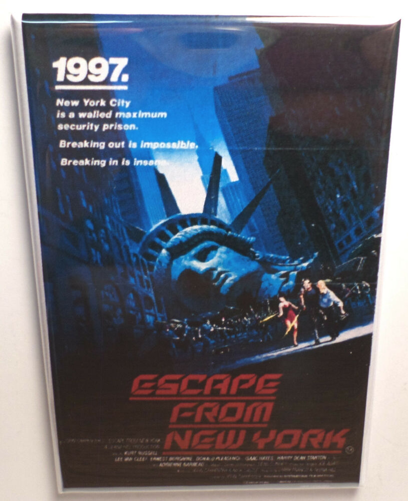 "Escape From New York Movie Poster 2"" X 3"" Refrigerator"