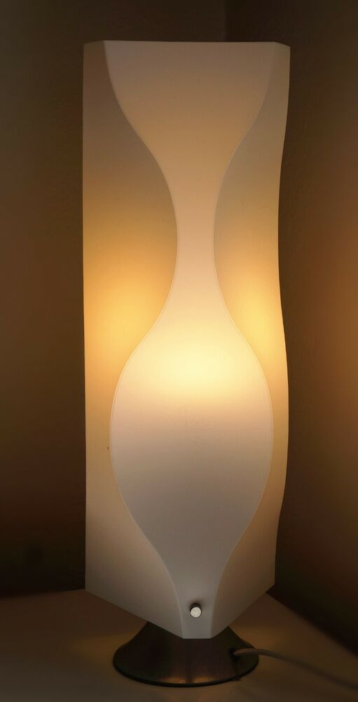 Table Lamp Jk102s Contemporary Modern White Lighting Living Room Bedroom Ebay