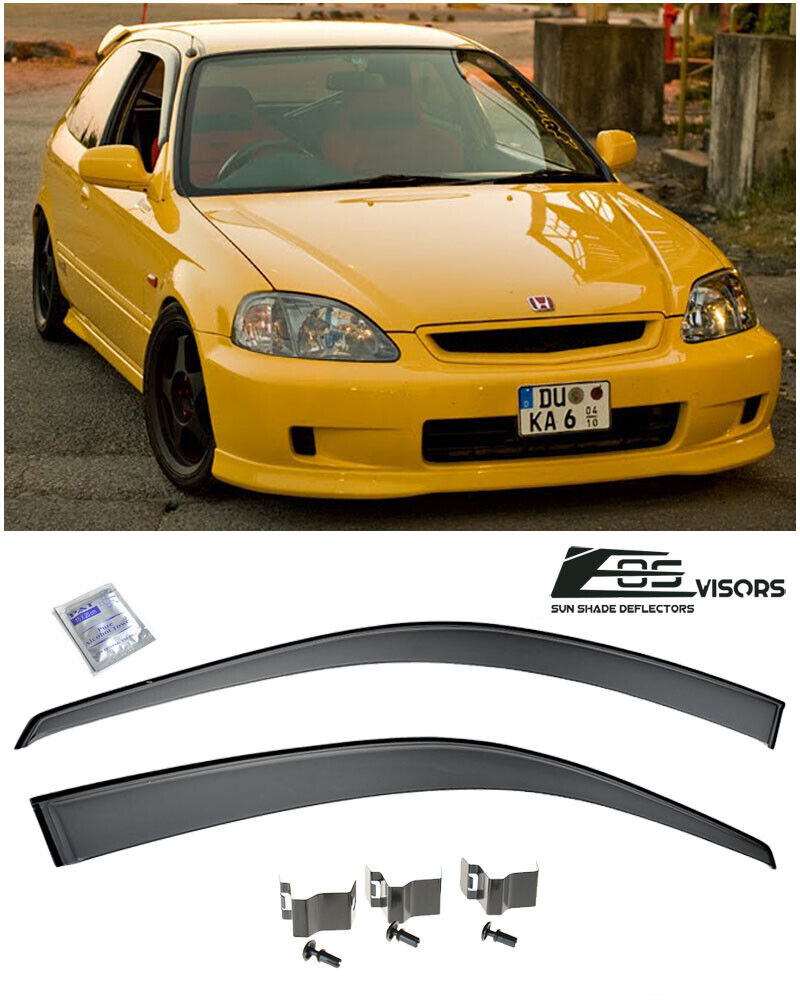 Civic Hatch: For 96-00 Civic EK Hatch CLIP ON Smoke Tint JDM Side