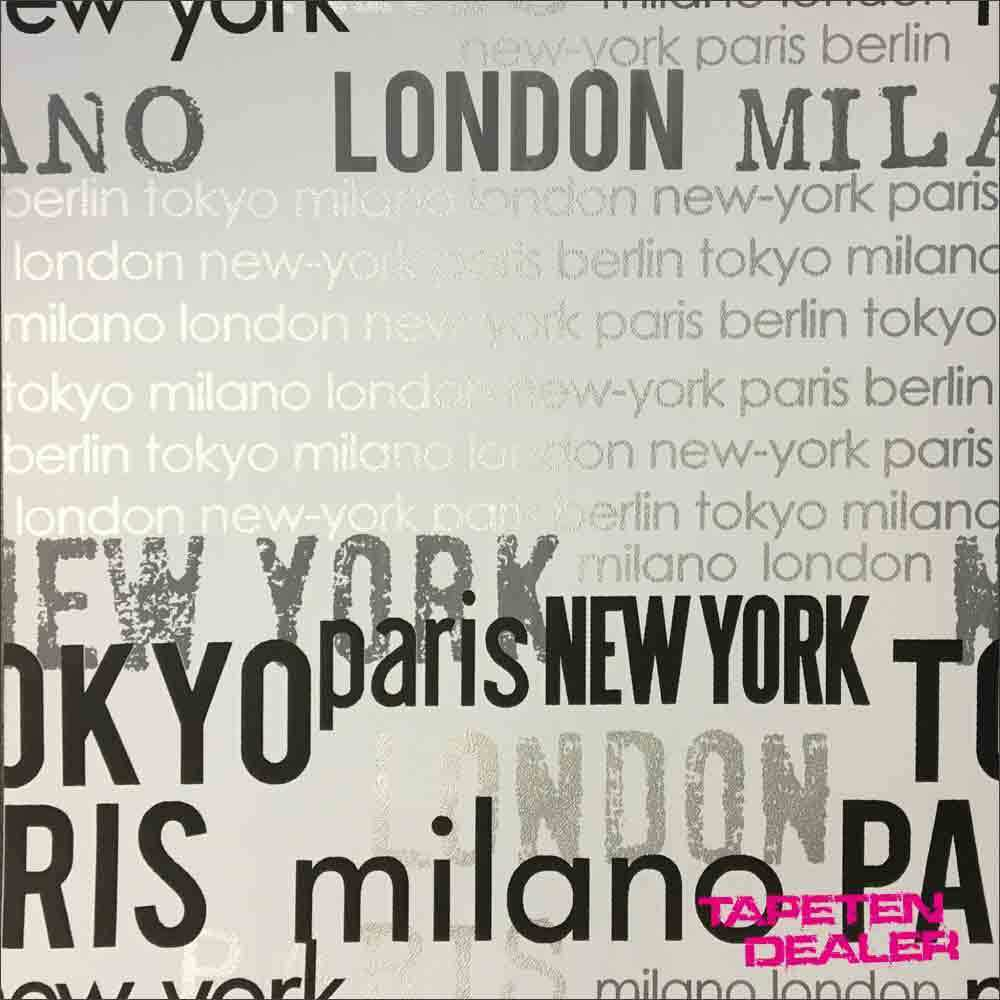 tapete papiertapete new york paris berlin tokyo london lutece 11099309 ebay. Black Bedroom Furniture Sets. Home Design Ideas