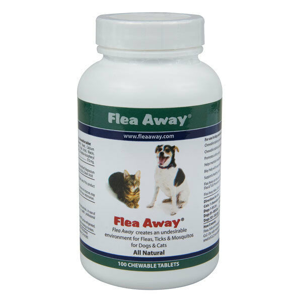 flea away the natural flea tick and mosquito repellent 100 tablets ebay. Black Bedroom Furniture Sets. Home Design Ideas