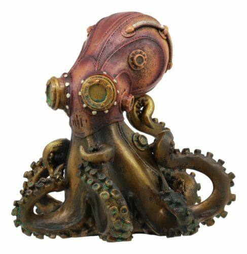 Steampunk fantasy collectible robotic octopus with for Robotic halloween decorations
