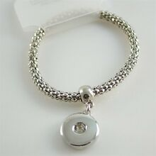 Fits Ginger Snap GINGER SNAPS BRACELET Silver Magnolia Vine Jewelry 18mm Button