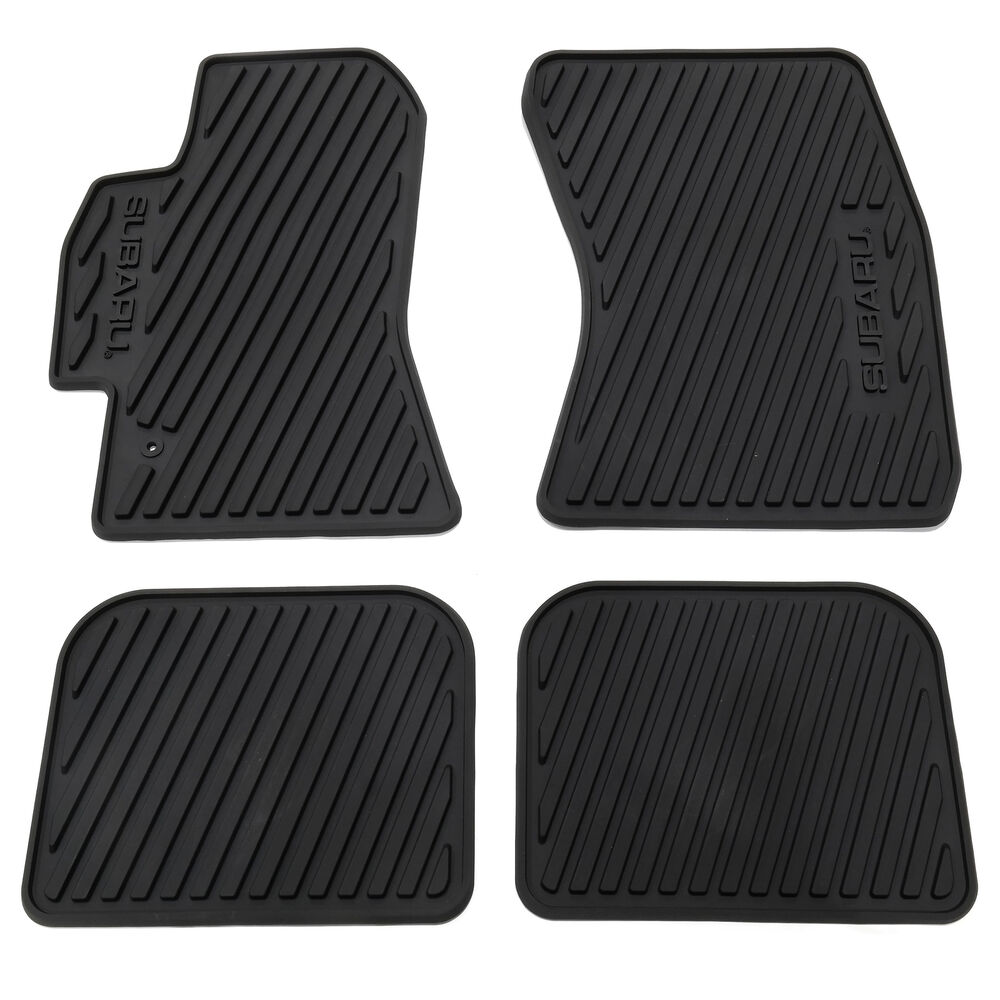 2005 2009 Subaru Outback All Weather Floor Mats Black